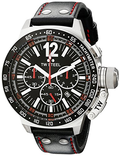 TW Steel Men s CE1016 CEO Canteen Black Leather Chronograph Dial Watch