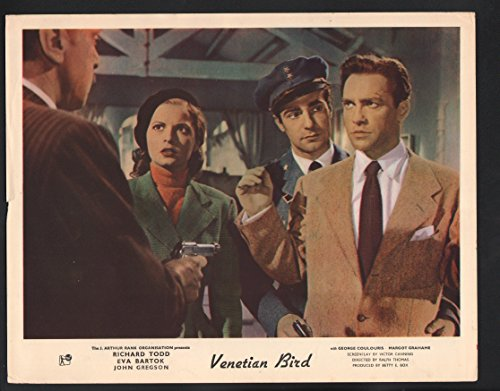 MOVIE POSTER: Venetian Bird Lobby Card-Richard Todd and Eva Bartok held at - At Stores The Venetian