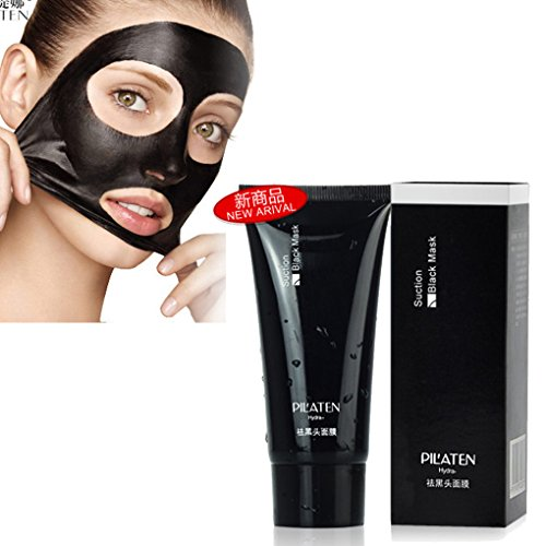 K-Beauty : PILATEN blackhead remover Tearing style Deep Cleansing purifying peel off the Black head acne treatment black mud face mask 60g