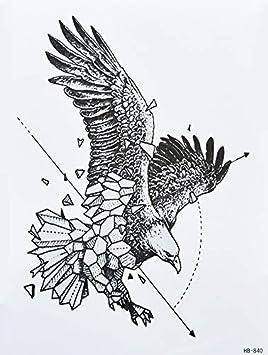 Tatouage Aigle Lignes Tatouage Faux Tatouage Hb840 Amazon Fr Beaute Et Parfum
