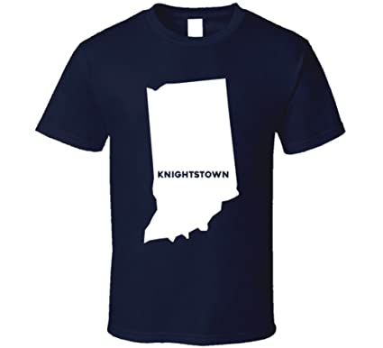 Knightstown Indiana Map.Amazon Com Knightstown Indiana City Map Usa Pride T Shirt Clothing