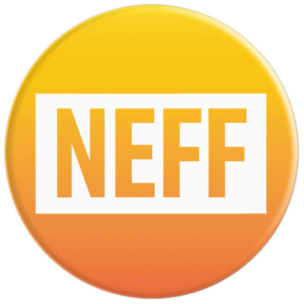 d254a3ec0de Amazon.com  Neff Yellow Orange Logo PopSockets Stand for Smartphones and  Tablets - PopSockets Grip and Stand for Phones and Tablets  Cell Phones    ...