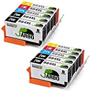JARBO 4 Color Compatible Replacement for Printer ink HP 564 High Yield, (4 Black, 2 Cyan, 2 Magenta, 2 Yellow), Used in HP Photosmart 5520 6520 5510 6510 HP Officejet 4620 HP Deskjet 3520 Printer