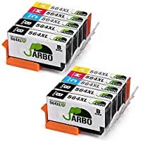 JARBO 4 Color Compatible Replacement for Printer ink 564 High Yield, (4 Black...