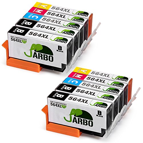 JARBO 4 Color Compatible Replacement for Printer ink HP 564 High Yield, (4 Black, 2 Cyan, 2 Magenta, 2 Yellow), Used in HP Photosmart 5520 6520 5510 6510 HP Officejet - Email Sign Up