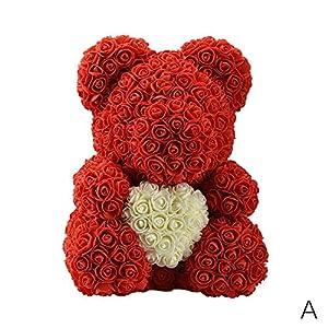 RoseSummerTeddy Bear Rose Bear Artificial Rose Anniversary Christmas Valentines Gift 38cm 10