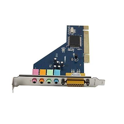NoyoKere 4 Canales 8738 Chip de Audio 3D Tarjeta de Sonido PCI estéreo para Win7 64 bits