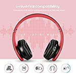 Zapig-Cuffie-per-bambini-senza-fili-con-microfono-Cuffie-senza-fili-Bluetooth-per-bambini-Cuffie-per-bambini-over-ear-stereo-bluetooth-pieghevoli-Rosso