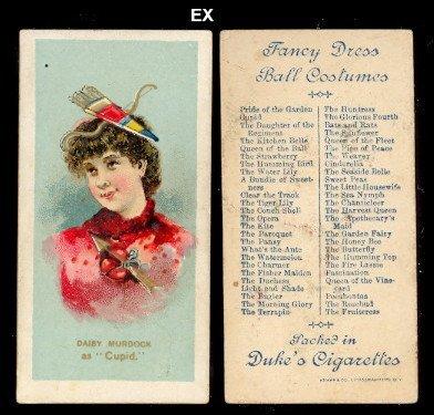 1889 Duke N73 Fancy Dress and Ball Costumes (Non-Sports) Card# 11 cupid - Daisy Murdock Ex (Daisy Duke Fancy Dress)