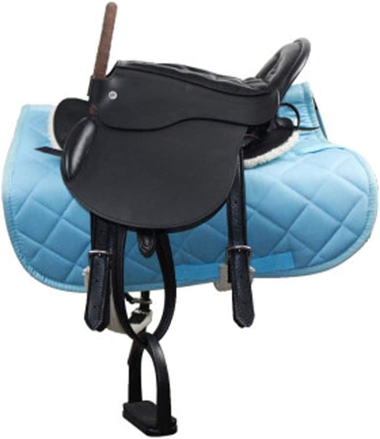 BLCC Sillín para niños Equipamiento para Caballos Expositor de sillas Adornos para sillas de Montar Juego Completo de taburetes, Amortiguación Cómodo Práctico para ecuestres de Campo TR