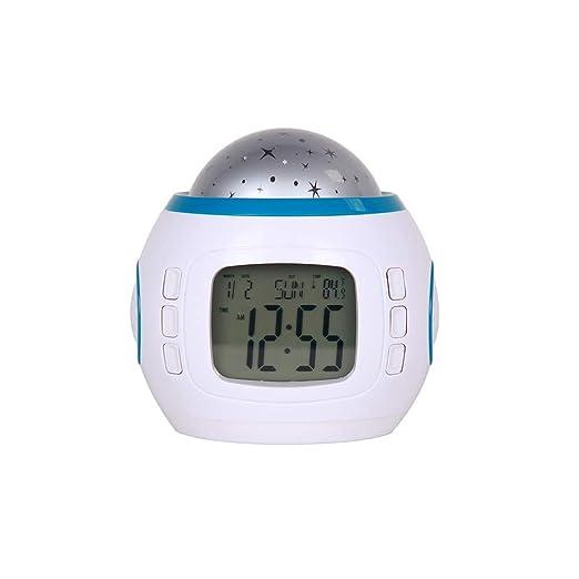 ZHANG Despertador Proyector, Reloj de proyección de Cielo ...
