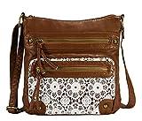 Scarleton Chic Lace Style Crossbody Bag H191204 - Brown