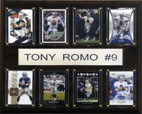 NFL Tony Romo Dallas Cowboys 8 Card Plaque, used for sale  Delivered anywhere in USA