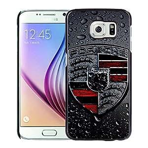Porsche logo 2 Black Samsung Galaxy S6 Screen Cellphone Case Personalized and Melting Design