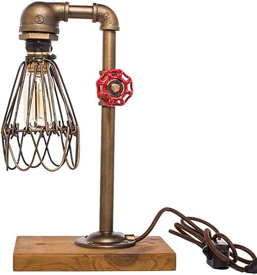 Lámpara de mesa industrial - Tubo de agua decorativo vintage ...