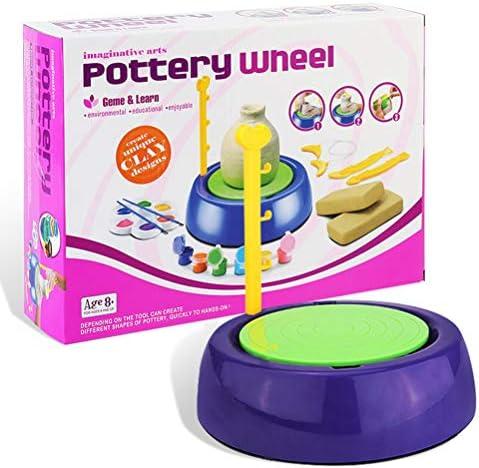 陶器ホイール空気DIYクラフトキット電気セラミック陶器マシン子供アートクラフト教育クリスマスギフトおもちゃ