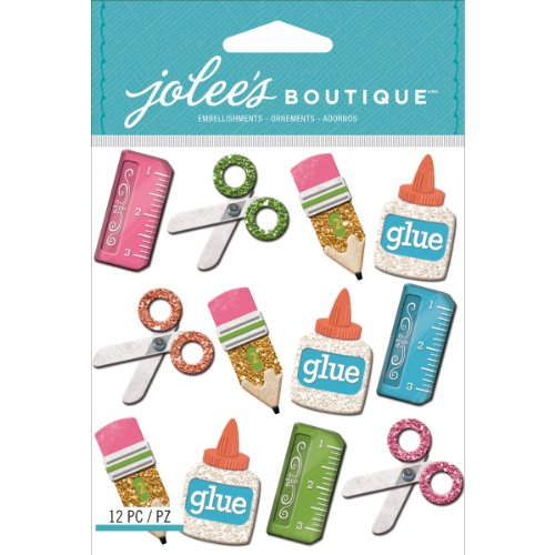 Jolee's Boutique Dimensional Stickers, School Supplies -