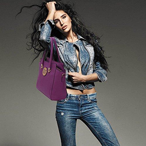 DELIVERY Handbag Stunning Stunning UK Metal Purple Metal Purple FREE Polished Polished Shoulder qwFP8q16