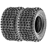 SunF 16x8-7 16x8x7 ATV UTV All Terrain Trail Replacement 6 PR Tubeless Tires A011, [Set of 2]