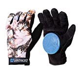Landyachtz Freeride Cat Pattern Slide Glove with Slide Pucks (M)