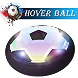 KKONES Hover Ball Kids Toy Boys Toys Girls Air Power Training Ball Children LED Soccer Disc and Foam Bumpers Sport for Playing Football Game with Parents Indoor or Outdoor