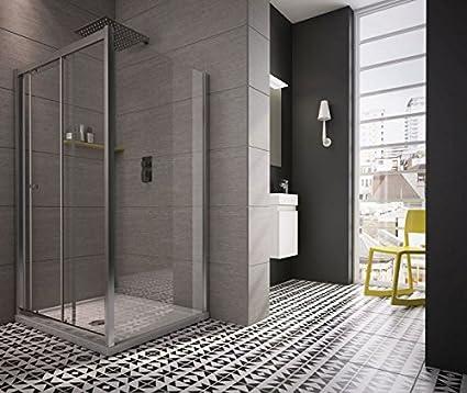 revron deslizante de ducha Puerta cristal vidrio templado premium (1200): Amazon.es: Bricolaje y herramientas