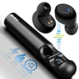 Wireless Earbuds, Phreilend True Bluetooth Headphones Noise Cancelling Mini Headset IPX5 Sweatproof Invisible Sports In Ear Earphones with Portable Charger Built-in Mic for IPhone Smartphones Laptop