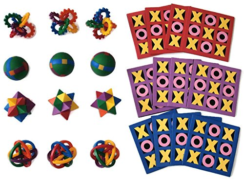 Kids Party Favors Puzzle Balls and Tic-Tac-Toe ()