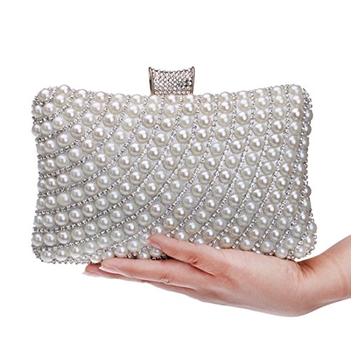 Fashion evening bag Pearl Black Women's Bag Bag Banquet Ladies And Color Evening Bag Fly Silver Evening Hand BOwcpqdYY7