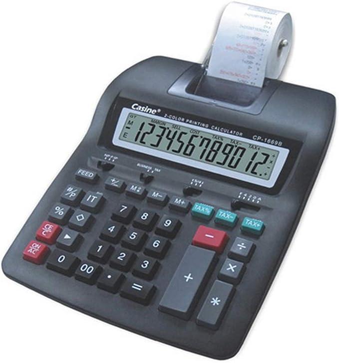 calculadora impresión Ticket calculadora impresora LCD 12 dígitos ...