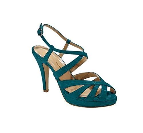 Petrol Heine Damen Sandalette 41 Schuhe Chillany Lack Größe QdrCtxsh