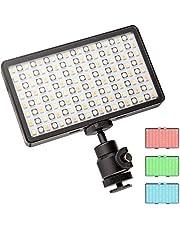 Walimex pro Rainbow Pocket LED RGB – op afstand bedienbare, compacte en sterke batterij-vlaklamp met kleur- en wit licht voor kleuraccenten in foto en film