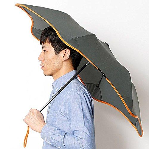 ブラント(BLUNT) 【空気力学による風に強い構造6色展開】ユニセックス長傘(メンズ/レディース雨傘) B072K79S48 51|43オレンジ 43オレンジ 51