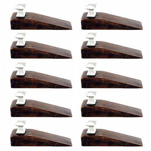 10 Door Wedge Solid Mango Wood Satin Brass Knob Walnut   Renovator's Supply - Solid Walnut Knob