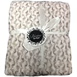 Rose Natural Faux Fur Throwover/Blanket (Single Sided) 51inx59in (130cmx150cm) Approximately By Divine By Design by Hamilton McBride