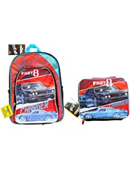NEW Fast and Furious 8 Fate Of The Furious Backpack & Lunch Box! Back to School Set!