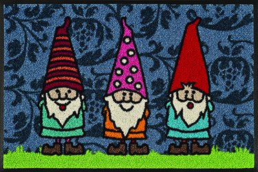 Gnome Mat (Garden Gnomes mat Wash + Dry by Kleen-Tex, 30