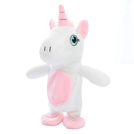 Amazon Com Interactive Unicorn Plush Toys For Kids Moving And