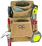 Custom Leathercraft I923X Suede Carpenter's Nail and Tool Bag, 10 Pocket