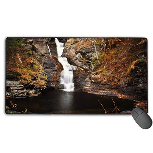 (Delaware Water Gap Large Gaming Mouse Pad,Large Desk Pad,Oversized Keyboard Mat,Non-Slip Rubber Base (75cm40cm))