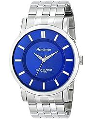 Armitron Mens 20/4962BLSV Blue Sunray Dial Silver-Tone Bracelet Watch