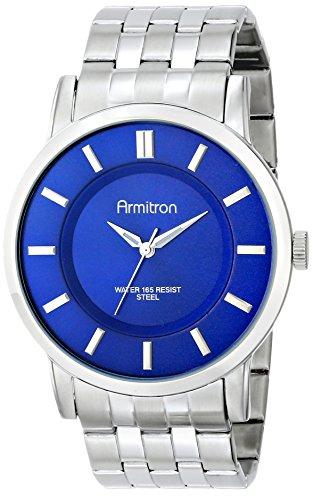 Armitron Men's 20/4962BLSV Blue Sunray Dial Silver-Tone Bracelet Watch