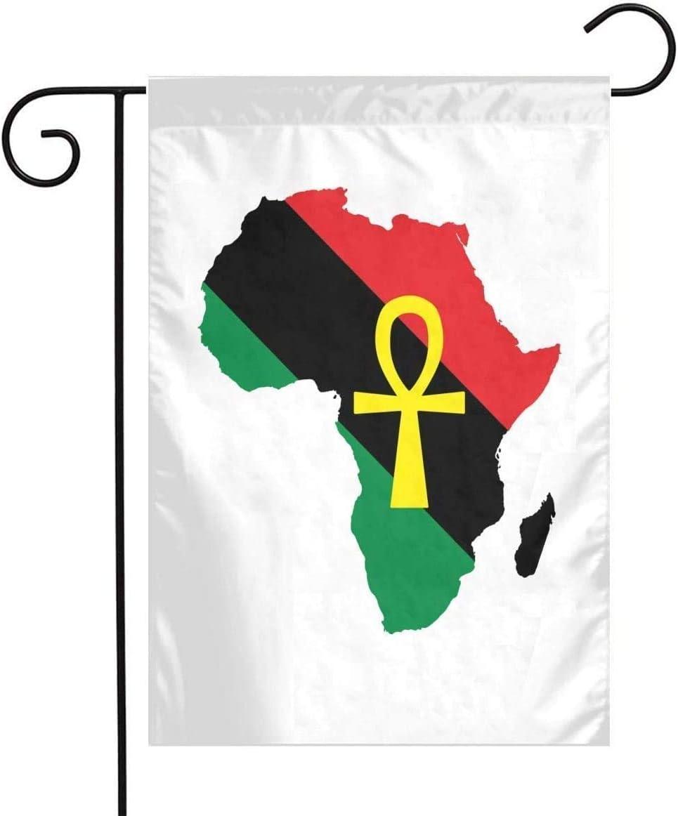THESHUAI Ankh African Garden Flag House Banner -