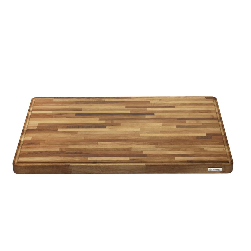 Legnoart LA-WB-XL Grand Gourmand Cutting Board, 29.5'' by 20'' by 1.5'', Natural Walnut