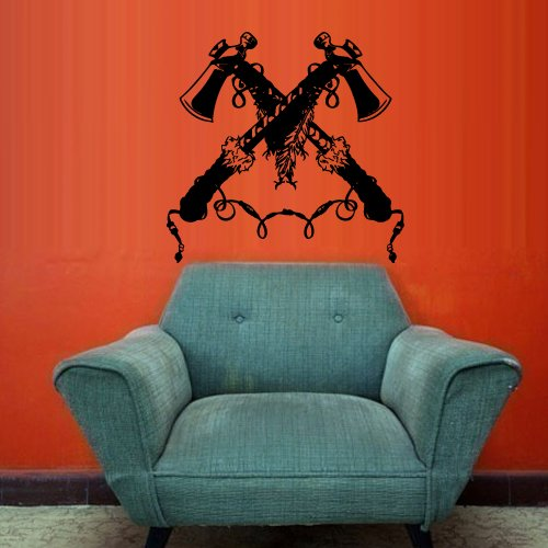Wall Vinyl Decal Sticker Bedroom Decal Ax Tomahawk Injun Native American z2960