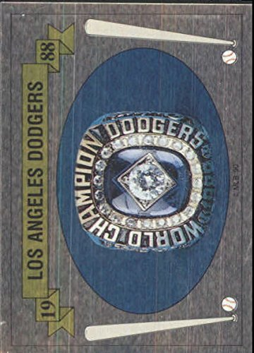 1990 Panini Stickers #189 '88 World Championship LA Dodgers Ring - NM-MT