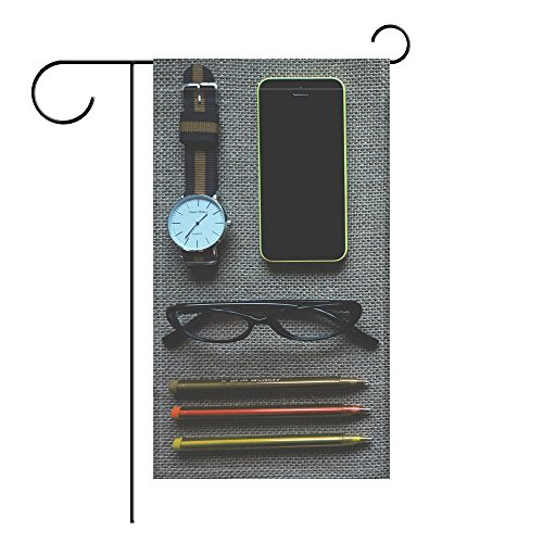 YourPink Garden Flag Phone Iphone Apple Notebook Watches Glasses Pens 12x18 inches(Without Flagpole)