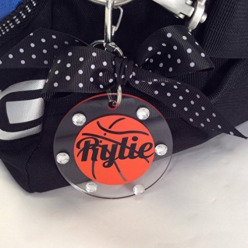 Basketball Bag Tag Personalized with Your Name and Your Colors ()