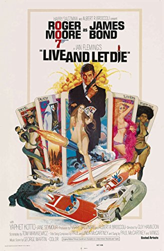 Amp Die - Live amp; Let Die Original Movie Poster. 1973