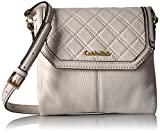 Calvin Klein Permanent Quilted Pebble Flap Crossbody, White